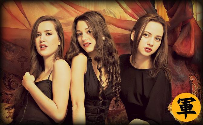 Three Ladies In Black